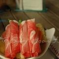 SPA Home -- 小火鍋的豬肉 & 蔬菜