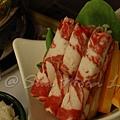 SPA Home -- 小火鍋的羊肉 & 蔬菜