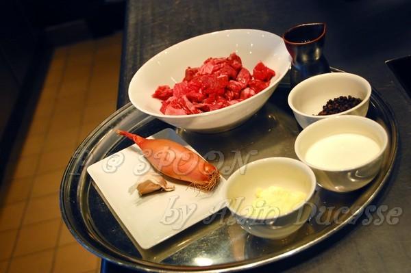 一月 -- 黑椒醬汁的材料