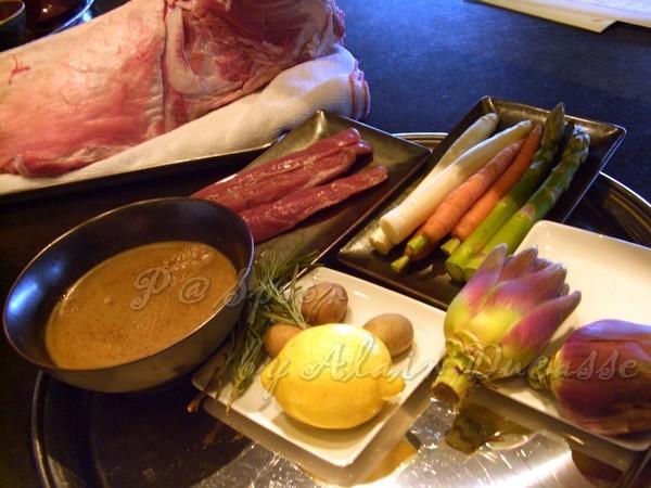 三月 -- 主菜的材料