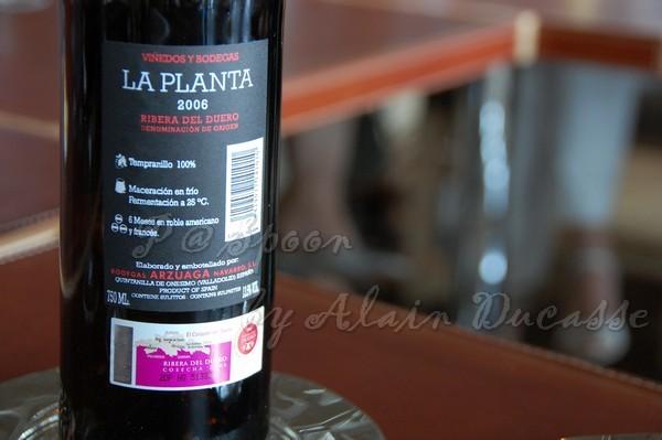三月 -- 2006 La Planta - Arzuaga (Ribera del Duero - Espana) 背面酒標