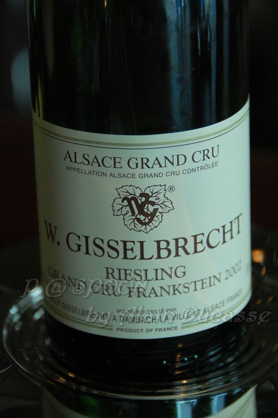 四月 -- 2002 Riesling Grand Cru - Frankstein - Willy Gisselbrecht (Alsace, France)