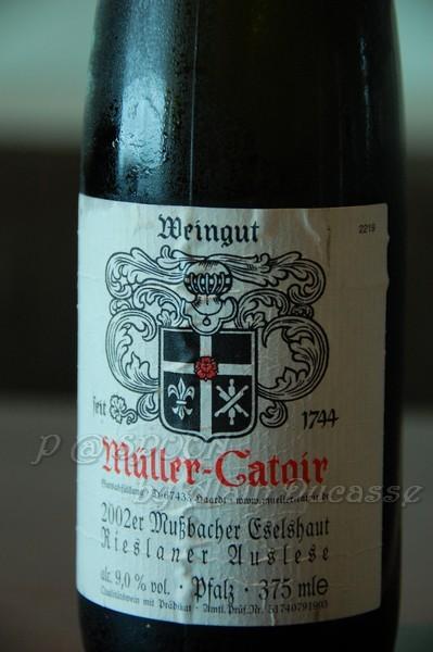 四月 -- Weingut Müller-Catoir 2002er Mussbacher Eselshaut Rieslaner Auslese