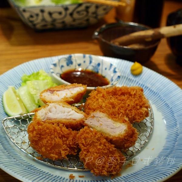 杏子日式豬排 -- 金目鯛、腰內肉豬排定食