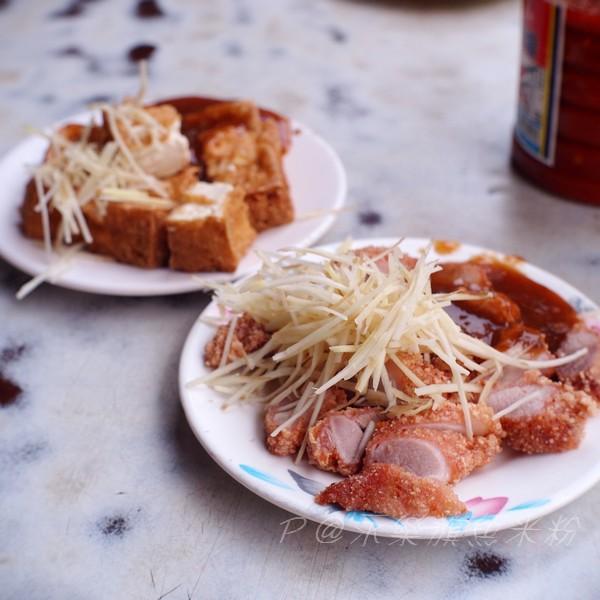 民樂旗魚米粉 - 紅燒肉 & 炸豆腐