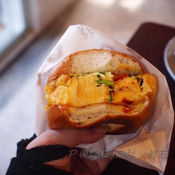 好丘 - 蔬菜起司烘蛋貝果三明治
