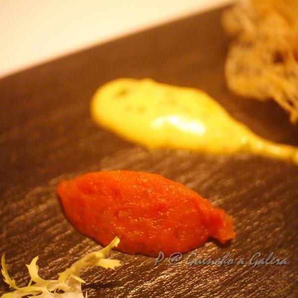 Guincho a Galera - 馬介休球的二色沾醬:蕃茄泥 & 芥籽美乃滋