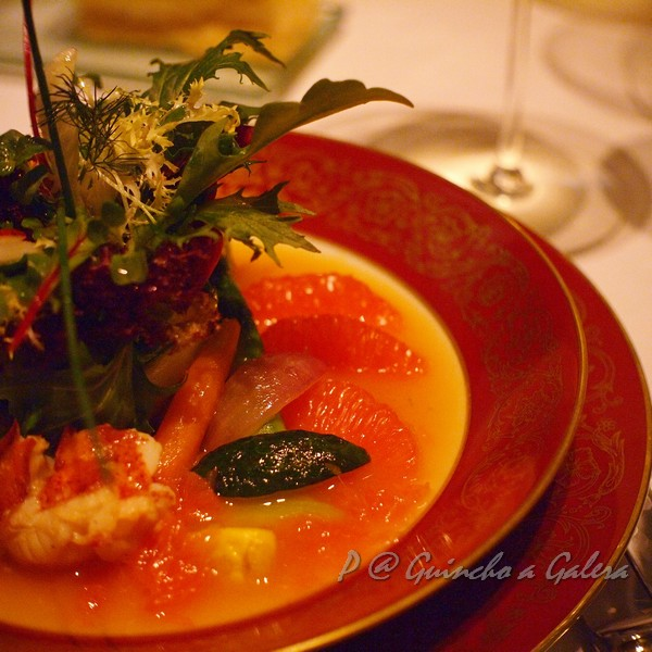 Guincho a Galera - 龍蝦沙拉伴燴甘笋及棗配柑橘汁 (Lobster Salad with Stewed Carrots, Dates and Citrus Sauce)