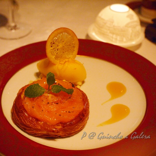 Guincho a Galera - 奶油烤柑橘伴橘子雪酪 ('Algarve' Clementine Gratin with Mandarin Orange Sherbet)
