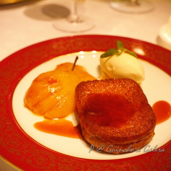 Guincho a Galera - 啤酒奶油軟包伴燴梨及啤酒冰淇淋 (Beer Brioche with Stewed Pear and Beer Ice-cream)