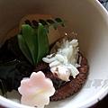 瓢亭別館 -- 蒸昆布、碗豆莢、竹筍、飯蛸