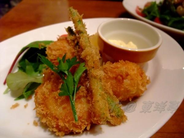 東洋亭 -- ホタテフライ (酥炸帆立貝) (1)