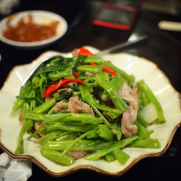石澳樂園泰國菜 -- 馬拉盞肥牛炒通菜