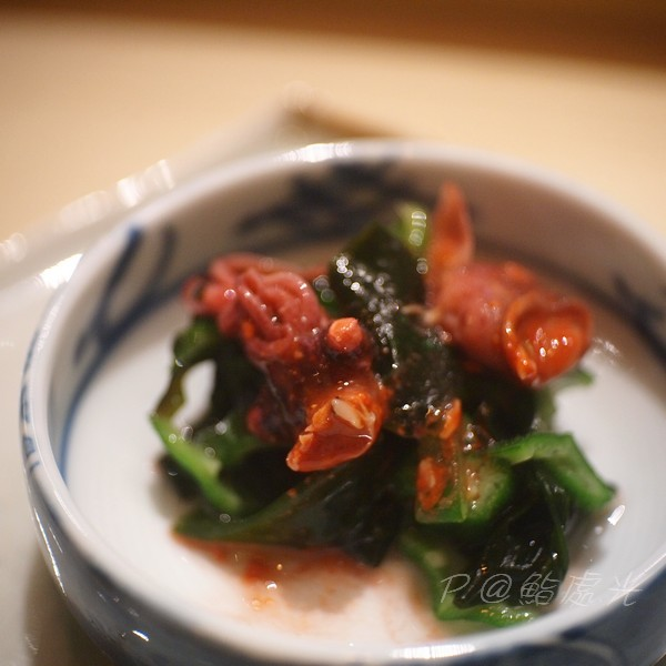 鮨処光 - 煮螢光魷魚拌秋葵昆布