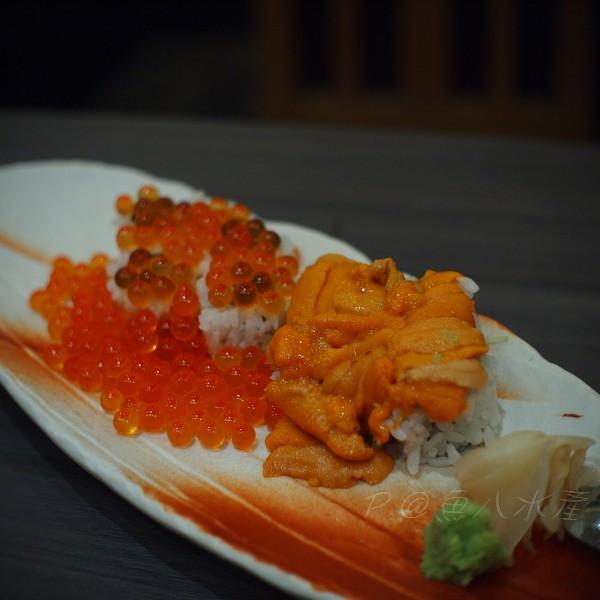 魚八水產 -- 海膽、鮭魚子壽司