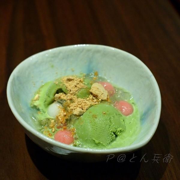 とん兵衛 - 抹茶冰淇淋白玉圓子