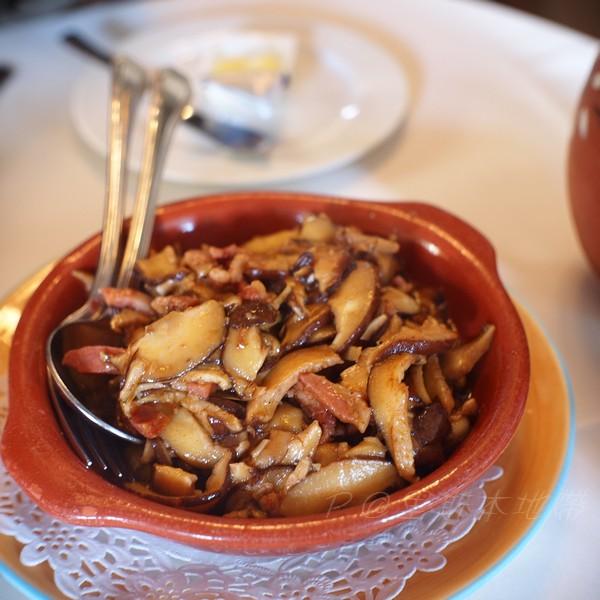 里斯本地帶 -- 培根炒雜菌