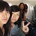 飛機上也拍照其實很害羞哈
