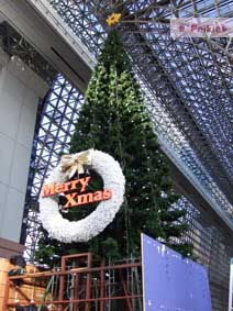 京都駅走到五樓往下拍的耶誕樹