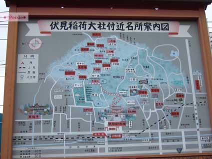 伏見稻荷神社的地圖