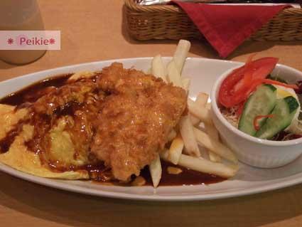 京都新京極通star蛋包飯漢堡肉
