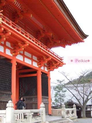 清水寺門口的仁王門--走進來了。