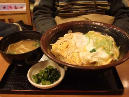 大阪-十三站的定食店家,親子丼