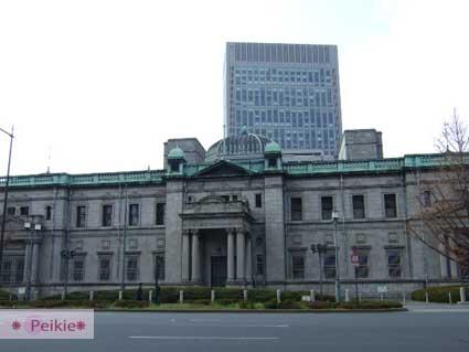 淀屋橋站附近的復古建築,應該是古蹟吧?很像台灣早期被殖民時候的建築