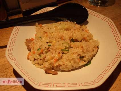四天王醬油拉麵套餐配炒飯