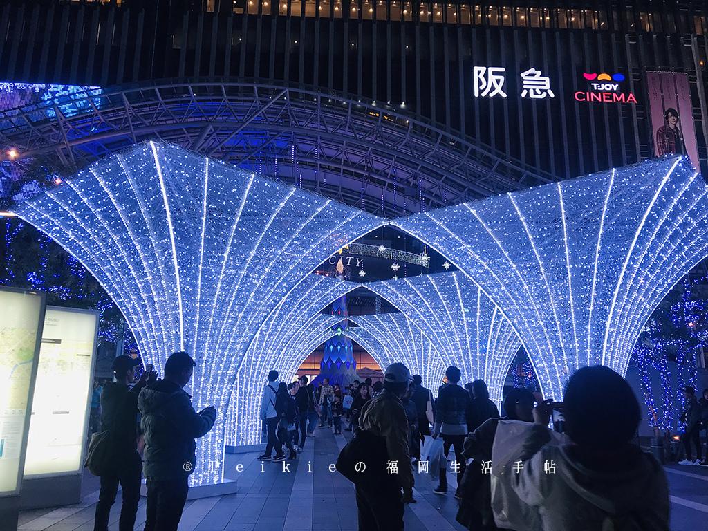 2018年博多站聖誕點燈冬季風華!