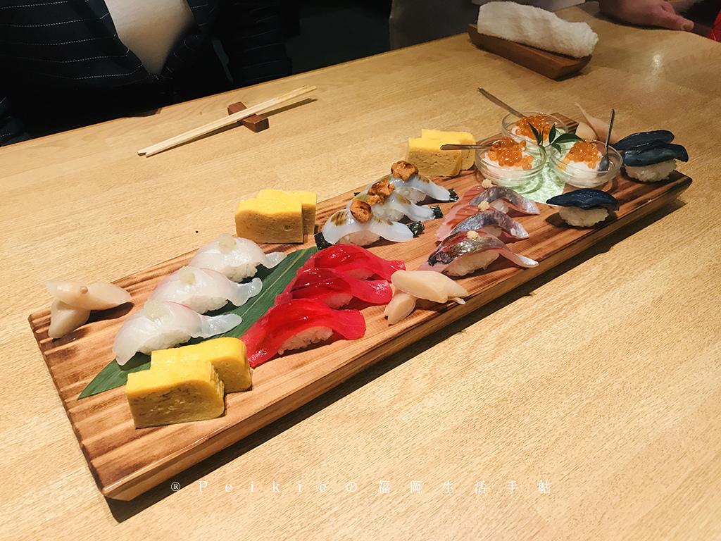 福岡。唐人町大人的壽司 鮨 桧がき