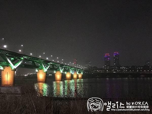 [首爾]漢江之美: 纛島遊園區站 (뚝섬유원지),都市賞夜熱點