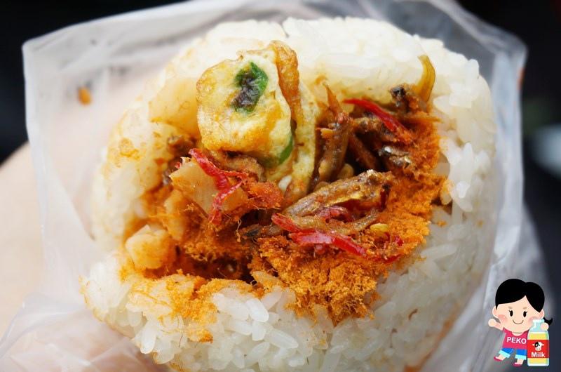 老王豆漿店 小魚乾飯糰05