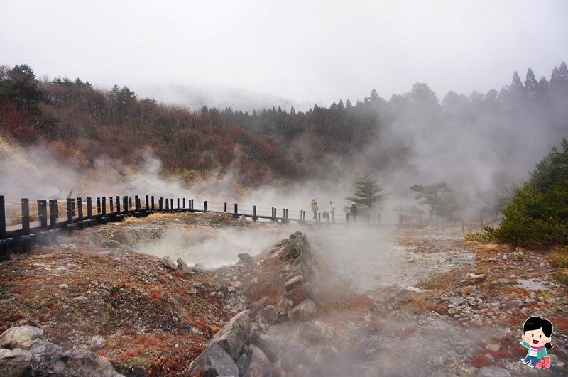 日本九州旅遊.九重町景點.小松地獄.大分九重町.秘湯溫泉.溫泉蛋.筋湯溫泉.