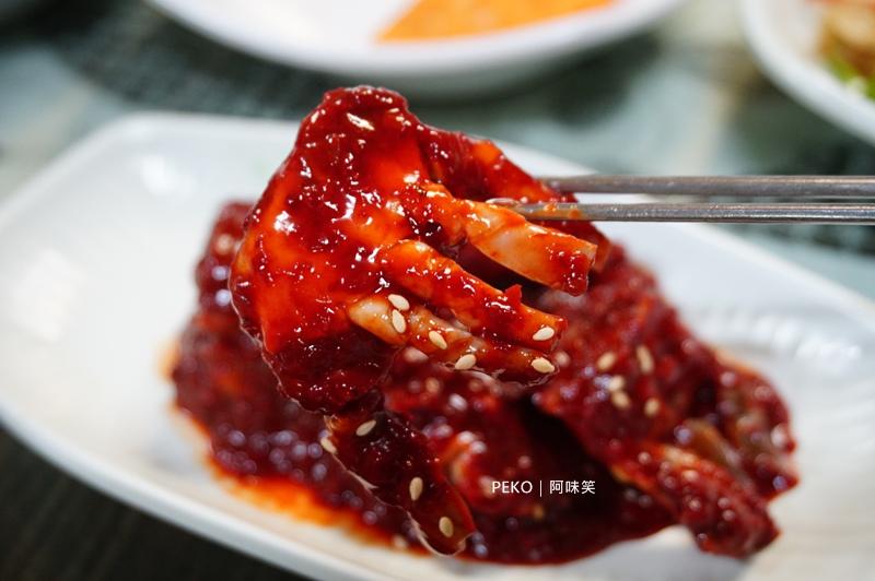 阿味笑.韓定食.明洞美食.首爾自由行.鍋巴湯.辣醬蟹.醬蟹.醬蟹吃到飽.