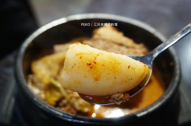 行天宮美食.三兄弟韓式料理.台北韓式料理.馬鈴薯排骨湯.豬骨湯.韓式料理.