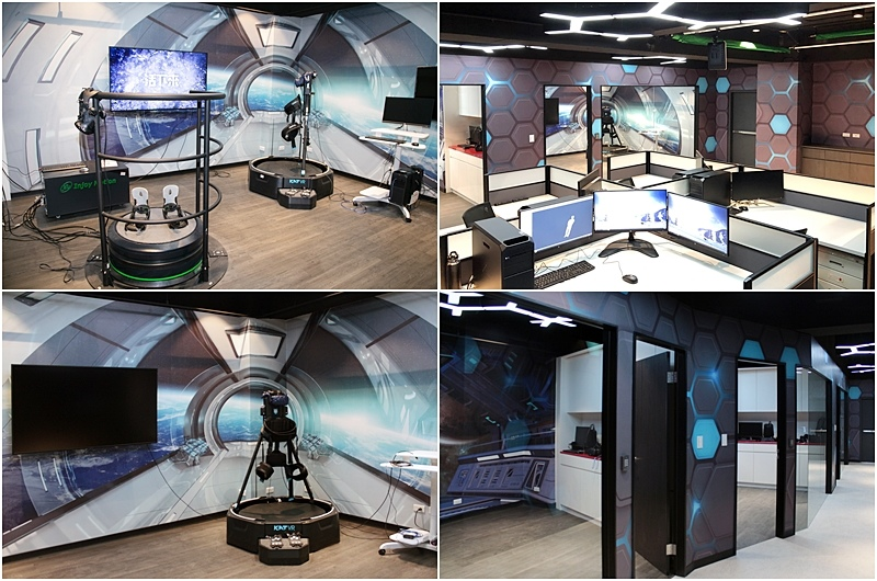 世新資管學生可使用全媒體大樓內的VR設備