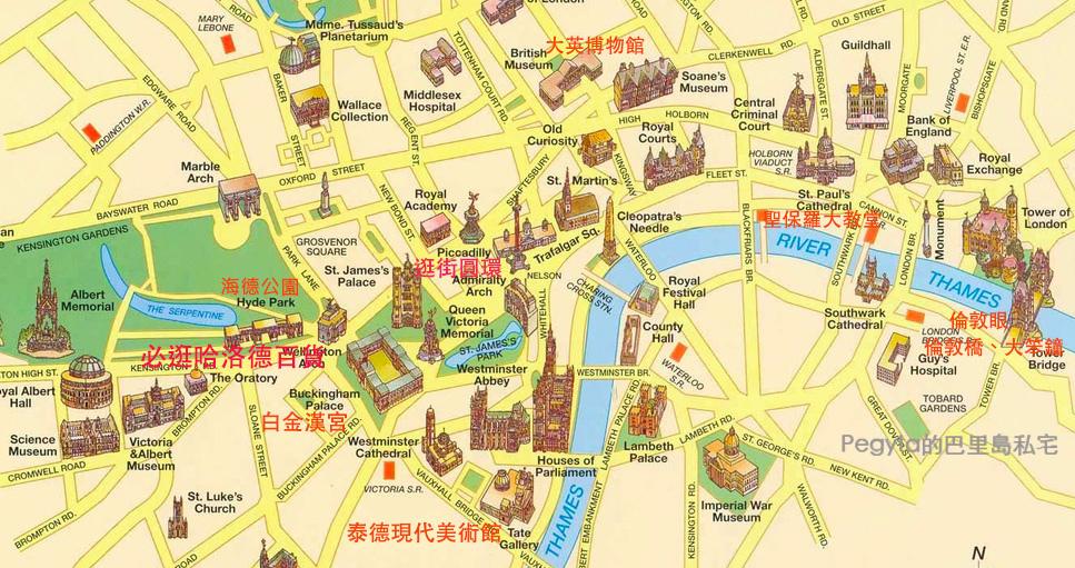 倫敦景點地圖