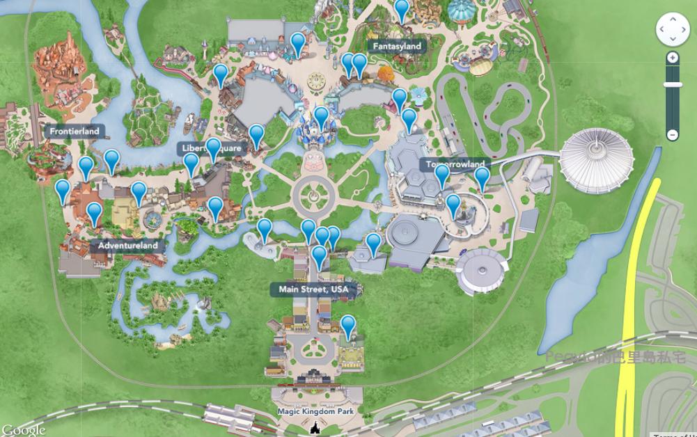 美國奧蘭多迪士尼樂園Magic Kingdom園區地圖