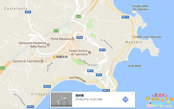 陶米納地圖
