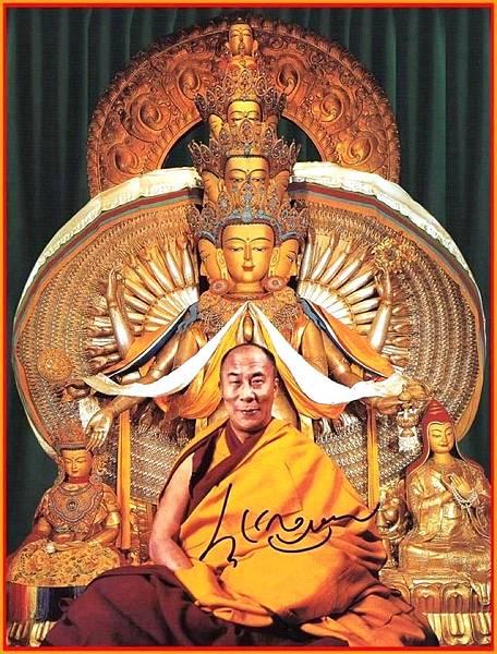 千手觀音與達賴喇嘛