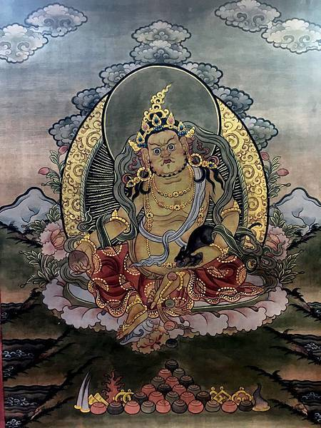 不丹得獎畫師所繪之黃財神唐卡