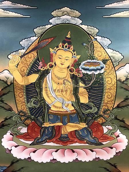 不丹得獎畫師所畫的文殊菩薩唐卡