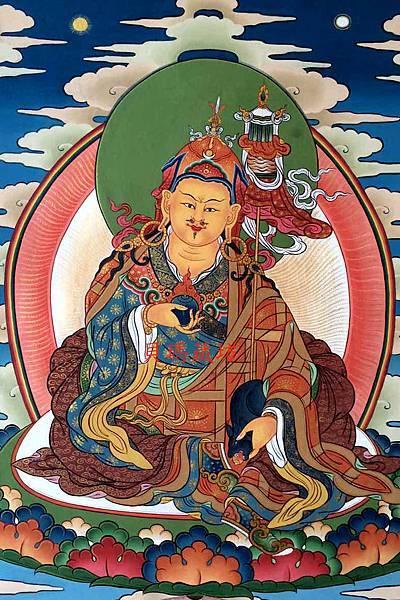 不丹蓮師財神唐卡