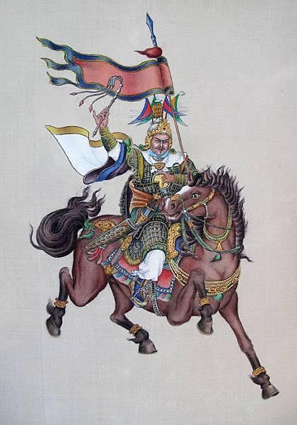 十七世大寶法王所繪製之格薩爾王