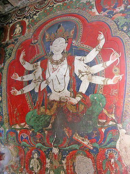 白居寺三面八臂大白傘蓋佛母壁畫
