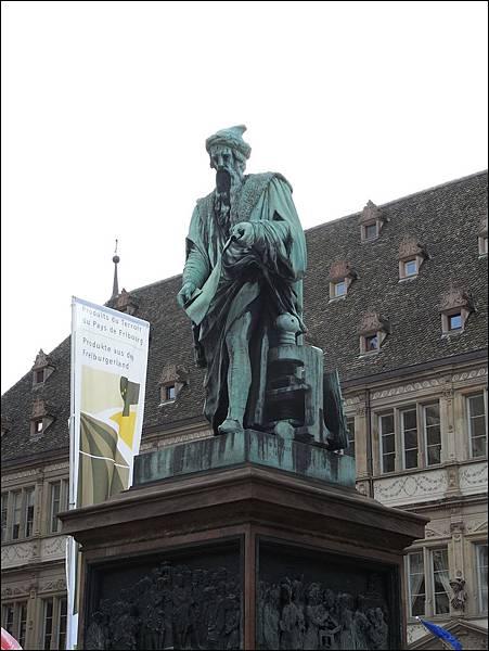 發明活字印刷板古騰堡(Gutenberg)的雕像