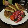 Melange Coffe/草莓奶油鬆餅