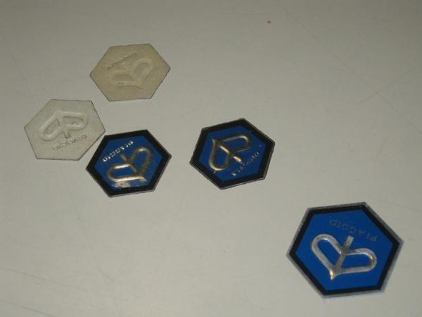 Vespa 6角P鋁質貼紙
