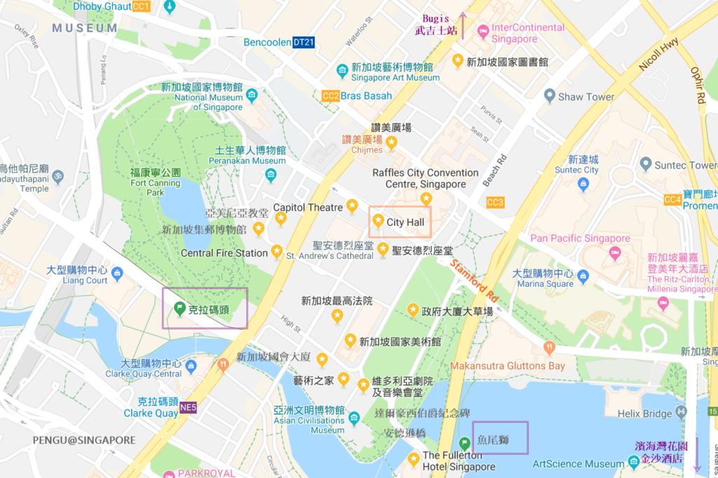 新加坡行政區景點地圖